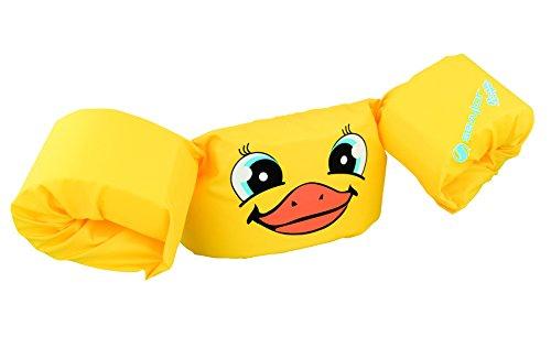 (Sevylor Schwimmflügel Puddle Jumper, für Kinder und Kleinkinder von 2-6 Jahre, 15-30kg, Schwimmscheiben, gelb, Ente)