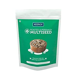 Keeros Healthy Super Snack -Multi Seeds Mix :with Roasted Flax Seeds, Pumpkin Seeds, Watermelon seeds, Sesame Seeds, Dry Dates ( Sugar Free, Gluten Free, Protein Rich Museli / Ready to Eat Snacks)150g