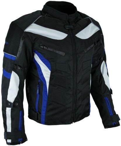 *Heyberry Textil Motorrad Jacke Motorradjacke Schwarz Blau Gr. 2XL*