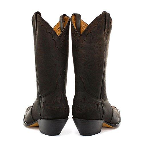 Grinder Mens Arizona Leather Boots Brun Foncé