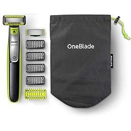 Philips OneBlade Face & Body QP2630/30 Utilizzo Wet&Dry, Include 1 Lama Viso, 1 Lama Corpo e 5 Pettini