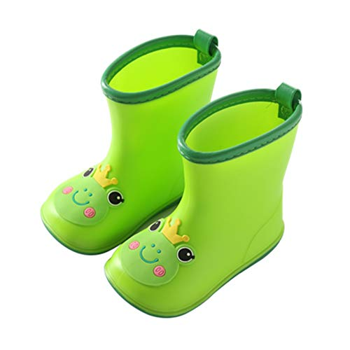 DMMW Baby Cartoon Rubber Rain Boots Kids Waterproof Wellington Wellies for Infant Toddler
