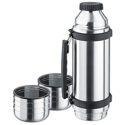 41GD6ioL5TL. SS500  - Isosteel VA-9562DQ 1.0 L Duo Vacuum-Insulated Flask with Quickstop Single-Hand Pouring System and 2 Screw-Off Drinking…