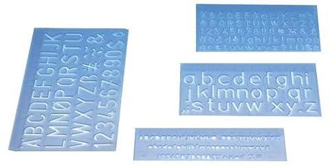 Wedo 07012 Kit trace-lettres avec 3 hauteurs de caractère 5 mm/10 mm/20mm - Pack de 4