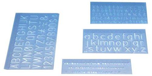 Wedo 07012 - Regla de letras (5, 10 y 20 mm, 3 unidades)