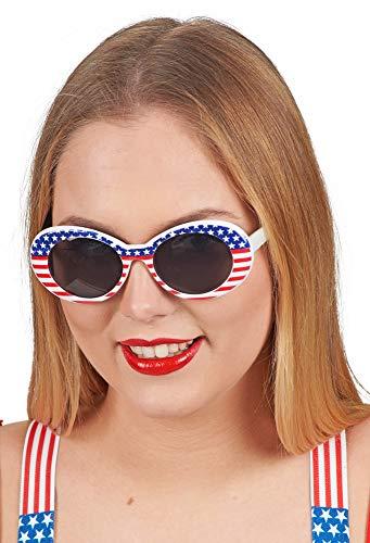 Das Kostümland Brille Miss America - 10er Set