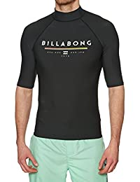 66a7d34caee4 BILLABONG 2018 Unity Short Sleeve Rash Vest Black H4MY01 Sizes- - Large