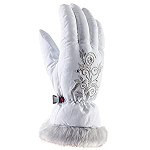 viking Handschuhe Winter Skihandschuhe Kinder – für Mädchen – warm, weich und bequem – mit Kunstfell – Natty