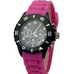 Hot Watch Chrono Style Uhr Pink W55