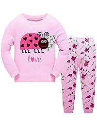 Chicas Pijamas Dinosaurio Ropa Mariquita Traje de Dormir Invierno Home Outfits