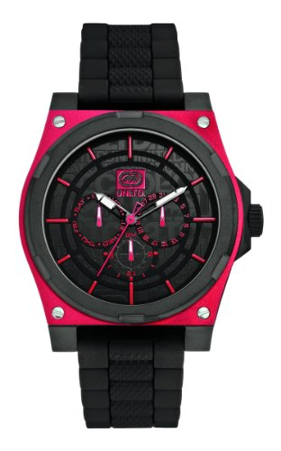 Marc Ecko-E13558G2 The Erx Men's Watch Analogue Quartz Black Rubber Strap Black Dial