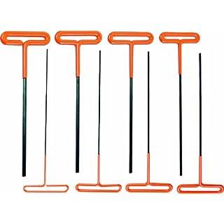 AMPRO T22860 T Bar Hex Key Set, 8-Piece