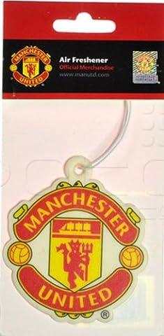 Manchester United Offizielle Fußballfan-Produkte im Set, einschl. Sticker, Flagge, Schreibwaren, Air Freshener Crest