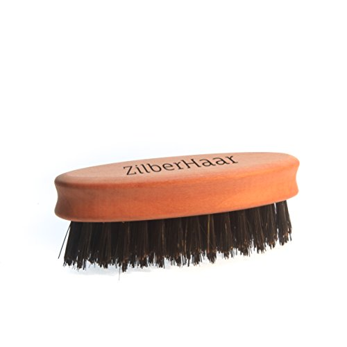 ZilberHaar-Pocket-Beard-Brush-Firm-Boar-Bristle-Small-Brush-Perfect-Grooming-Tool-Works-for-Any-Beard-or-Moustache-Compatible-with-Beard-Oil-Balms-and-Wax-Made-In-Germany