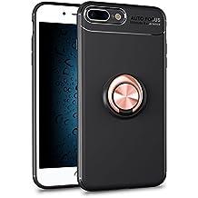 coque iphone 8 plus noir avec anneau