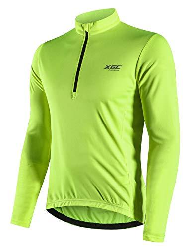 adtrikot Fahrradtrikot Radshirt Fahrradshirts Fahrradbekleidung für Männer mit Elastische Atmungsaktive Schnell Trocknen Stoff (Green, S) ()