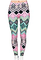 Tootlessly Women's Tights Striped Thicken Navajo Floral Tights Leggings 1 M