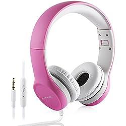 Auriculares Plegables para niños en Color Rosa, Hisonic
