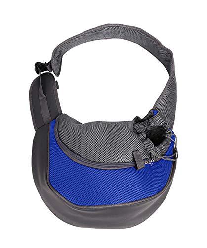 Vaycally Neue modische Haustier Hangbag Pet Carrier, Hund Katze Sling Carry Einstellbare gepolsterte Schultergurt Einkaufstasche Outdoor Travel Puppy Carrying für Walking Subway -