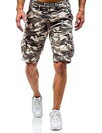 BOLF Herren Short Kurzhose Bermuda Hose Army Motiv Military Casual 7G7 Camo