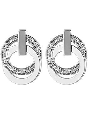 JETTE Silver Damen-Ohrstecker Swing 925er Silber 58 Zirkonia One Size, silber