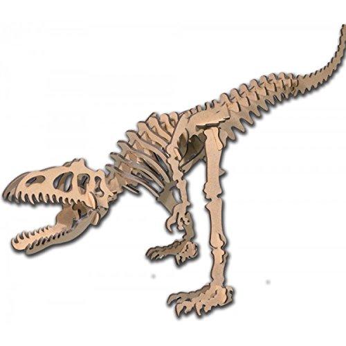 Dinoland - Kit de Madera Allosaurus, Color marrón (Keranova 5603)