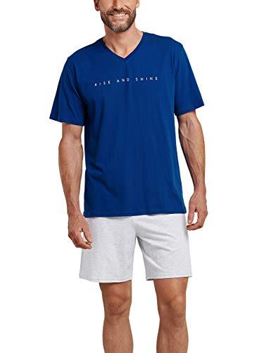 Schiesser Herren Zweiteiliger Schlafanzug Kurz, Blau (royal 819), XX-Large (Herstellergröße: 056)