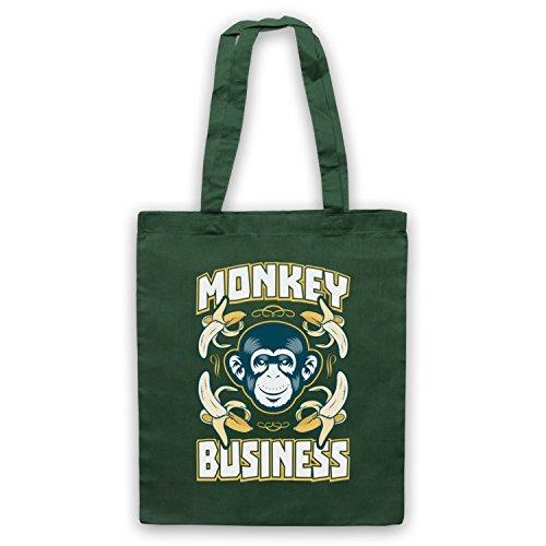 Monkey Business Funny borsa custodia Verde scuro