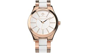 Timothy Stone Collection Charme Bicolor - Reloj Mujer de Cuarzo, Color Oro Rosa 40mm