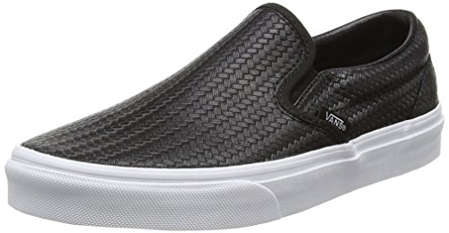 Vans U Classic Slip-on Sneaker, Unisex Adulto, Nero (embossed Weave/black/true White), 39