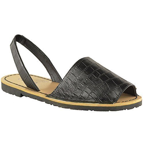 46aed24087fd WOMENS LADIES SUMMER MENORCAN PEEP TOE SANDALS BEACH MULES SLIDERS FLAT  SHOES - Buy Online in UAE.
