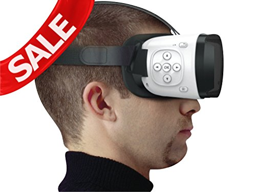 Ocular Maxima Virtual Reality Glasses (WHITE) With Inbuilt Bluetooth Controller - Fully Adjustable VR Headset With 40 MM PMMA Lenses - VR Box With Highest FOV of 110 Degrees & Compatible With 4