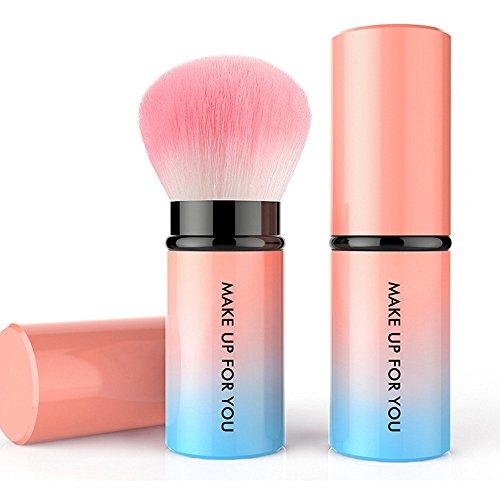 Eaylis Pinceau De Maquillage TéLescopique Tige De Plastique En Laine De Nylon Pinceaux Maquillages Yeux Fond De Teint Real Techniques Highlighter