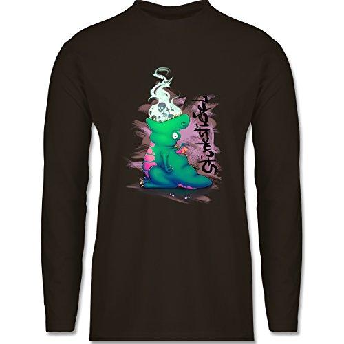 Statement Shirts - Stinkstiefel - Longsleeve / langärmeliges T-Shirt für Herren Braun