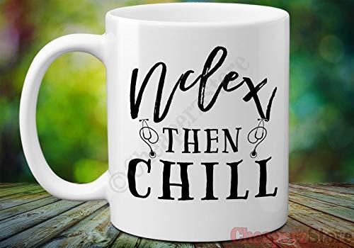 Nclex Becher Nclex k¨¹hlen dann Kaffeetasse Nclex Geschenk Nclex Pr¨¹fungs-Geschenk-Krankenschwester-Abschluss-Kaffeetasse Lustige Krankenschwester-Becher Studenten-Krankenschwester-Becher