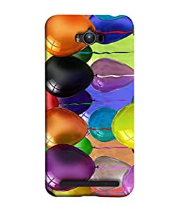 FUSON Designer Back Case Cover for Asus Zenfone Max ZC550KL :: Asus Zenfone Max ZC550KL 2016 :: Asus Zenfone Max ZC550KL 6A076IN (Watercolor Colorful Holiday Sketch Balloons Set )