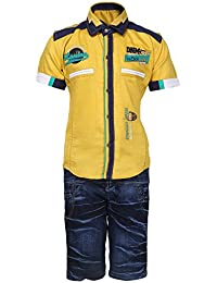 AJ Dezines Kids Party Wear Shirt and Shorts Clothing Set for Boys