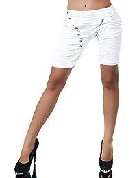 17864e8c91e929 N870 Damen Bermuda Jeans Hose Shorts Damenjeans Hüftjeans Caprijeans  Boyfriend