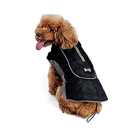 Akemiao Dog Coat Winter Warm Jacket Pet Clothes with Harness Hole Suit for Small Medium Breed Dogs 1