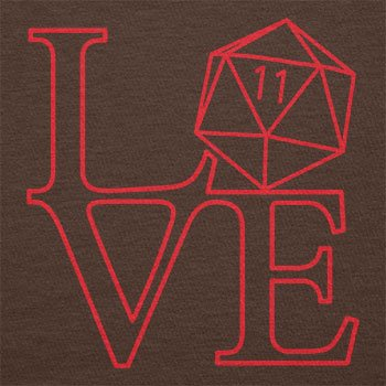 Texlab – RPG Love – sacchetto di stoffa Marrone