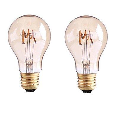 4W B22 E26/E27 LED Glühlampen G60 1 COB 400 lm Warmes Weiß Dimmbar AC 220-240 AC 110-130 V 2 Stück , 220-240v