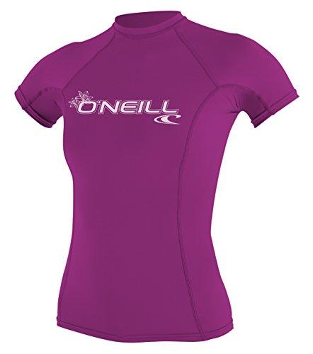 O'Neill Wetsuits Damen Uv Schutz wms basic skins S/S crew Rash Vest, Pink, L