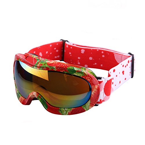 a36a34061348 Yomeni Kids Ski Goggles - Helmet Compatible Snow Goggles for Boys   Girls  with 100% UV Protection (Strawberry color) - Buy Online in Oman.