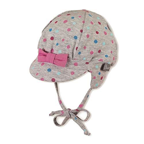 Sterntaler Baby Mädchen Schirmmütze, Hut, Ballon-Mütze mit Punkten in grau, Hüte & Mützen:45