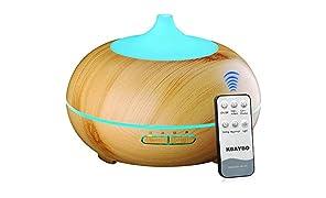 KBAYBO Controllo remoto Diffusore Aromaterapia 7 LED Ultrasonic Cool Mist Aria Umidificatore Diffusore