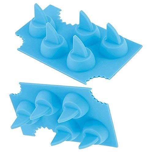 silikon eisformen 100 % BPA frei, Temperaturbeständig von -40°C bis 230°C, geruchsneutral, stabil & spülmaschinengeeignet (Hai-Flossen (2er/Set)) (Sekt Mit Fruchtsaft)