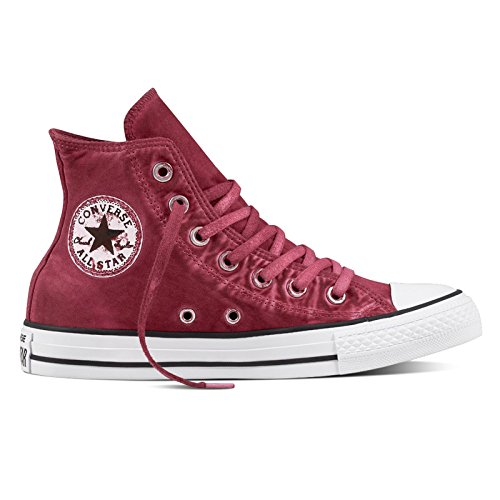 Converse Womens Chuck Taylor All Star Hi Top Textile Trainers Rot