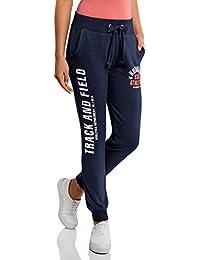 oodji Ultra Femme Pantalon en Maille avec Imprimé et Liens à Nouer