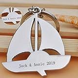 Personalisierte Segelboot Schlüsselanhänger in Edelstahl poliert - Gravierte Geschenk für Geliebte, Familie und beste Freunde , 1#