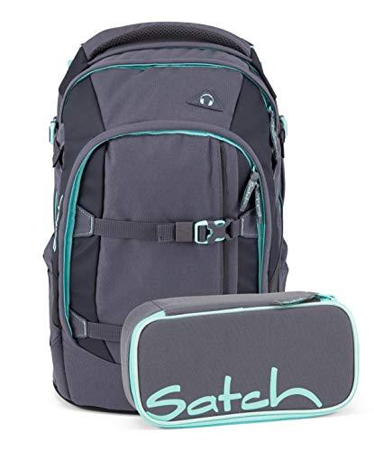 Satch Pack Schulrucksack Inklusive Federtasche, 30 Liter, 30 x 22 x 45 cm, Schulrucksack Set Mint Phantom